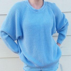 Vintage American Weekend Woman Blue Sweater